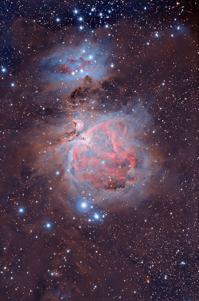 orion nebula in night sky - 663×1000