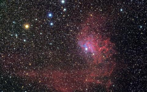 IC405 - La Nébuleuse de l'Etoile Flamboyante