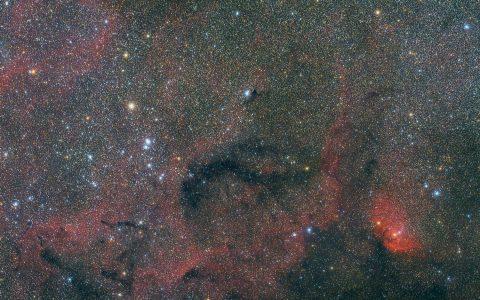 NGC6871 et SH2-101 - Nébuleuse de la Tulipe